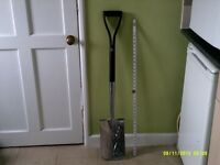 Stainless Steel Garden Digging Spade, Brand New,never used,