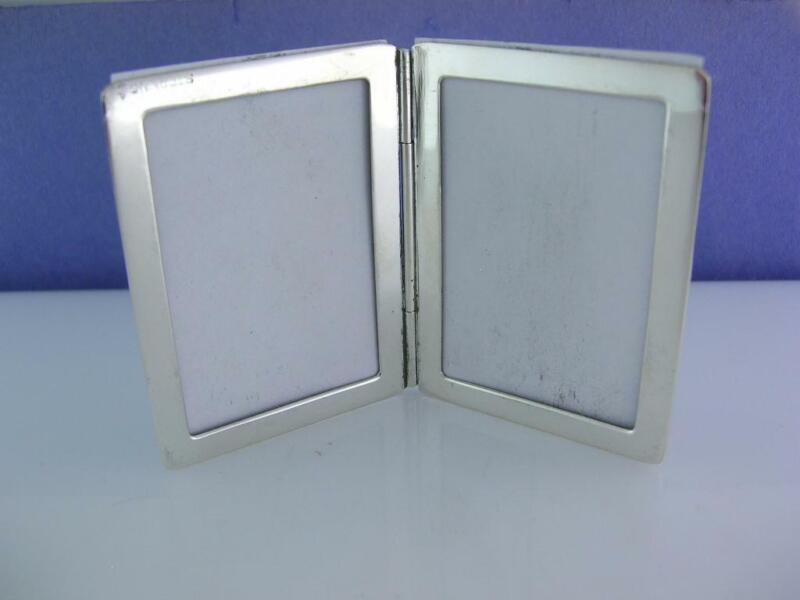 Sterling THOMAE folding picture photo frame pocket travel ~no mono ~exc cond