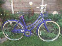 "Vintage Retro Raleigh caprice 3 speed Dutch style Shopper,21"" stunning Blue frame"