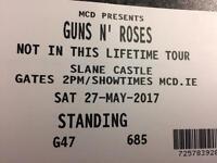 2xGuns N Roses Slane Tickets
