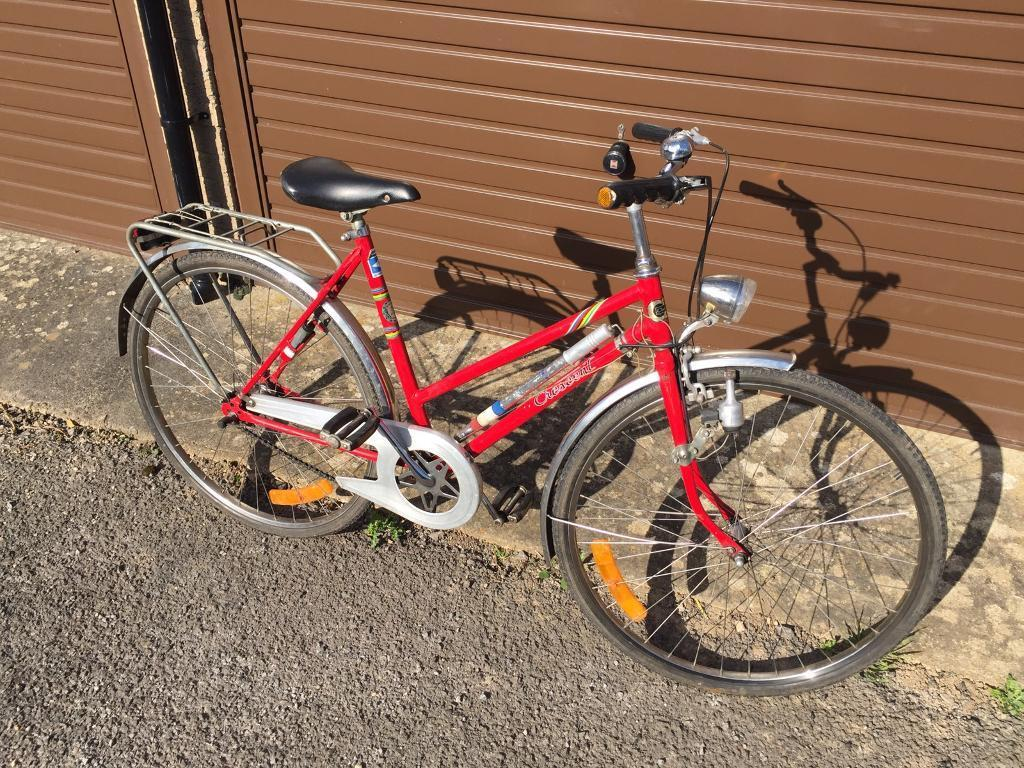Very Rare Crescent Ladies Bike. Beautiful condition for age. Serviced. Free Lock, Lights. Delivery