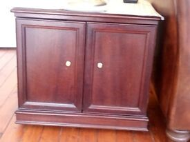 REDUCED PRICE Classic mahogany storage cupboard/lamp table.