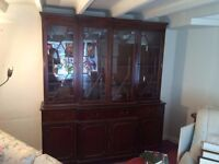 Beautiful Breakfront Bookcase (1970s reproduction)