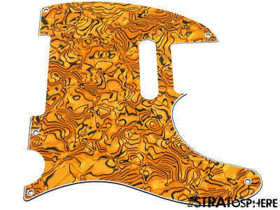*NEW Gold Abalone Telecaster PICKGUARD for Fender USA Standard Tele 3 Ply 5 Hole