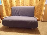 BLUE FOLDING SOFA BED BY 'FLIPSO' IN GREAT CONDITION.