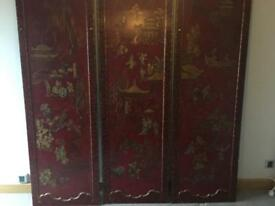 Antique oriental screen