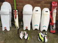 Cricket Gear Job Lot Bats, Balls Pads, Bags Etc Huge!! Wow!! Slazenger, Helmets