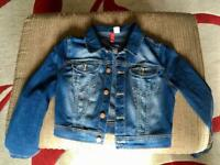 H&M Cropped Denim Jacket