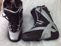 MENS SNOWBOARD BOOTS NEW UK SIZE 7 - NORTHWAVE APX PROJECT - Model APX7.MX WEB XT MATT BLACK/SILVER