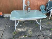 Garden furniture (table and chairs)