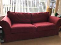Dark Red Sofa Bed