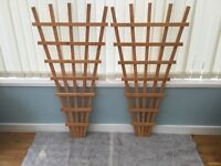 NEW QUALITY GARDEN WOODEN FAN TRELLIS VARIOUS SIZES