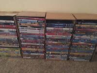 100 DVDs and 125 blu-Ray's new and sealed
