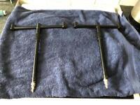 FOX black label 3 rod fixed bars and fox adjustable bank sticks