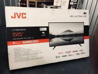 New smart tv 50 inch JVC 4K ultra HDR with Alexa