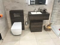 Pier Bathroom Set Including Wall Hung Pan, Cistern and Frame.