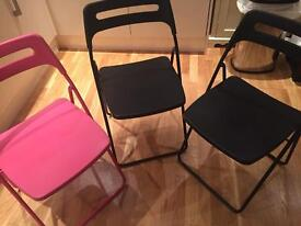 Metal fold up chairs