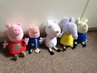 Peppa Pig, talking George,Suzie Sheep, Rebecca Rabit, Emily Elephant