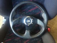honda civic mugen racing steering wheel with boss eg eg6 eg5 del sol vti sir
