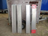 ALLOY CHECKER PLATE REINFORCED 1.5M TRAILER RAMPS (4 AVAILABLE).....