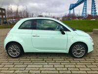 FIAT 500 1.2 CULT 3d 69 BHP LUXURIOUS LITTLE CAR , RARE COLOUR (green) 2014
