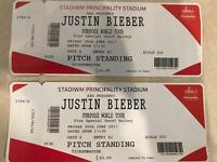 2 Tix to Justin Bieber - Cardiff - Face Value