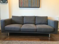 Three seat sofa - very good condition (less than 6 months of usage)