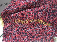 Red Louis Vuitton Scarf