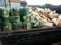 Firewood hardeood van load