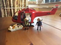Playmobil Rescue Helicopter and crew