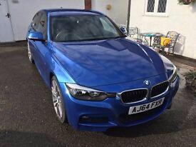 "2015 BMW 318d M Sport - Estoril Blue - Professional Media - 19"" Alloys"