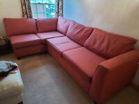 Corner Sofa in Burgundy Red Tweed - Kentucky Style