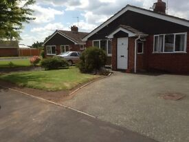 3 bed bungalow with garage and store in High Ercall