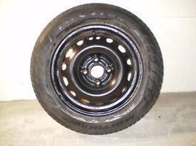 Vauxhall Corsa C spare wheel and original jack/wheelbrace kit.