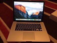 Apple MacBook Pro (Retina, 15-inch, Mid 2015), 2.2GHz i7, 16GB RAM, 256GB SSD