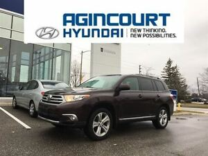 2013 Toyota Highlander SPORT AWD/LEATHER/SUNROOF/ONLY 75368KMS!!