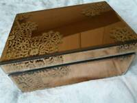 CHEAP mirrored patterned jewellery box