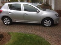 Dacia Sandero Ambiance, 5 door in silver, still under manufacturers warranty, 18944 miles only