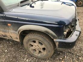 Landrover discovery 2 td5 drivers side wing in blue