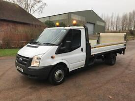 2011 Ford Transit t350 LWB dropside truck with tail lift
