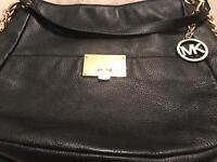 Fabulous top quality black leather Michael Kors genuine bag Fulton design