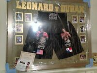 New Framed Leonard V Duran Black Boxer Shorts With Certificate Of Authenticity