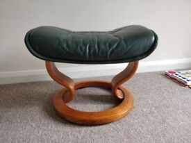 Free to collect - Green Leather footstool x2.