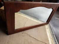 Large Oak Mirror