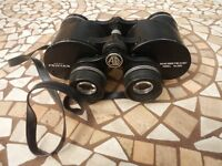 Ashai Pentax 8 x 40 wide field 9.5 degrees binoculars.The image is very sharp and clear. £30