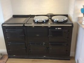 AGA, four door oven with two hobs, Electric 13Amp. OFFERS WELCOME.