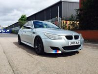BMW M5 F1 PADDLE SHIFT DCT GEARBOX+ FULL HEATED WHITE LEATHER SEATS+ SAT NAV+ HEAD UP DISPLAY.