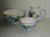 Jug and two Bowls. M&S