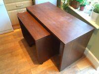 Dark wood desk (2 x desks)