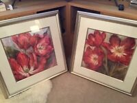 Framed John Lewis flower prints